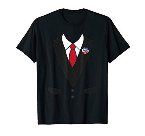 Funny Trump Tuxedo Pin Halloween Presidents Day Easy Costume T-Shirt