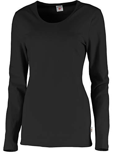 Whitewear Langarm Stretch-T-Shirt Carol Long-Shirt Basic Wear Rundhals Gr. XL anthrazit