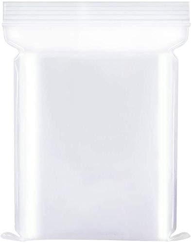 100 Sacchetti in plastica Trasparente risigillabili, Borsa con Chiusura a Cerniera Rigida Riutilizzabile,Ispessimento e Resistente,premere per chiudere con Chiusura, 100 PCS (6x8)