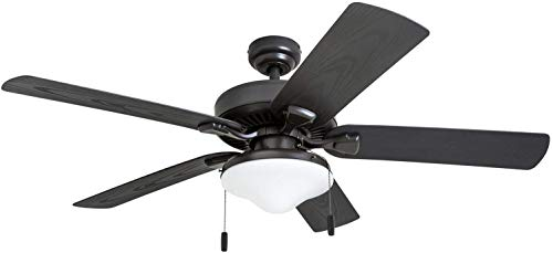 Honeywell Belmar Outdoor LED Ceiling Fan with LED Light, Waterproof, Damp-Rated, 52