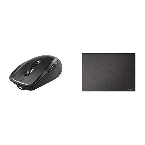 3Dconnexion CadMouse Wireless (kabellose Maus, Bluetooth, USB, optischer Sensor, schwarz) & CadMouse Pad (Mauspad, schwarz)