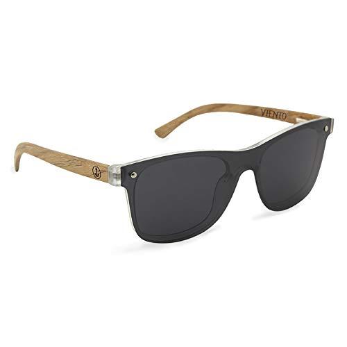 VIENTO Hybrid Lumberjack Gafas de Sol de Madera (Negro)