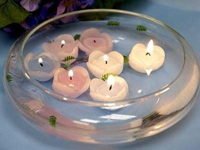 silk Tampa Mall Discount mail order flowers factory 10 Candle Floating Bowl Inch