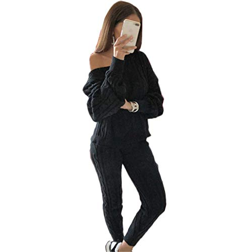 OtoñO/Invierno Ropa De Mujer Moda Color SóLido Traje SuéTer Mujer