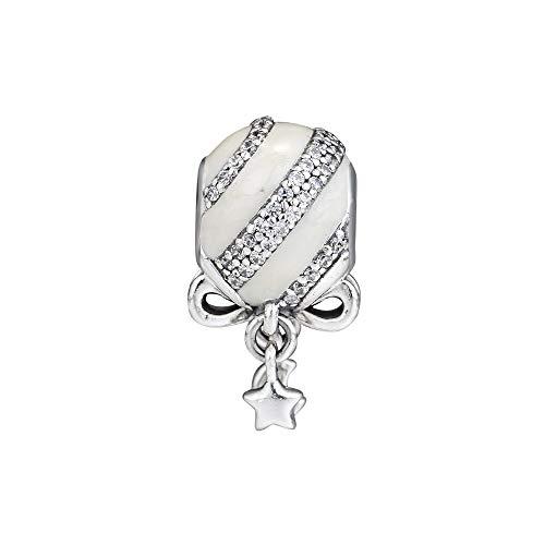 LILANG Pulsera de joyería Pandora 925, Adorno navideño Natural, abalorio de Plata esterlina para Hombre, Cuentas para Mujer, Regalo DIY