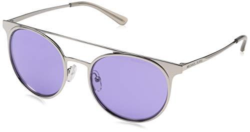 Michael Kors 11371A Gafas de sol, Shiny Silver/Tone, 52 para Mujer