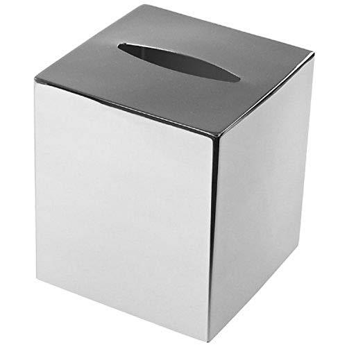 polished chrome tissue box cover - 3