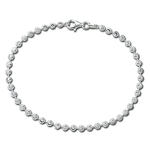 SilberDream Moon Pulsera de 19 cm para mujer de plata de ley 925 SDA3029J