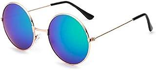 Women's Sunglasses - DCM New Round Sunglasses Women Retro Gold Silver Black Frame Eyewear Female Male Sun Glasses Gafas