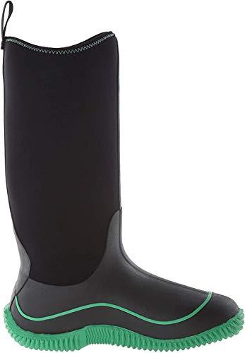 Muck Boots Hale Multi-Season Women's Rubber Boot, Black/Jade, 8 M US