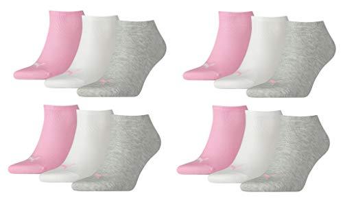 PUMA Unisex Sneakers Socken Sportsocken 12er Pack, Prism Pink, 39/42