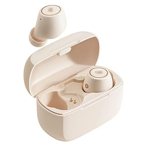 HJFGIRL Auriculares Bluetooth 5.0 TWS1pro con cancelación de Ruido Activo híbrido, 6 micrófonos, Graves Profundos estéreo, 42 Horas de Tiempo de reproducción con USB-C...