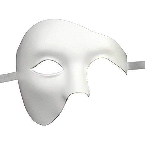 Qualité Demi Visage Fantôme Vénitien Masque de Mascarade Partie des Yeux Carnaval Masque Blanc