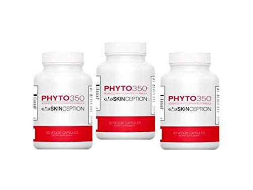Skinception Phyto350 Advanced Phytoceramides Formula (30 ct) - 1 Month Supply - 3 Pack