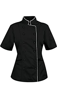 Chef Attires Short Sleeves Women's Ladies Chef's Coat Jackets