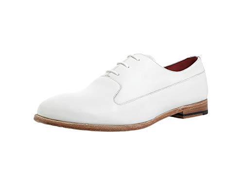 Gordon & Bros. Damen Schnürhalbschuhe Paris 6291, Frauen Businessschuh, anzugschuh weiblich Ladies feminin elegant,White/Bianco,38 EU / 5 UK