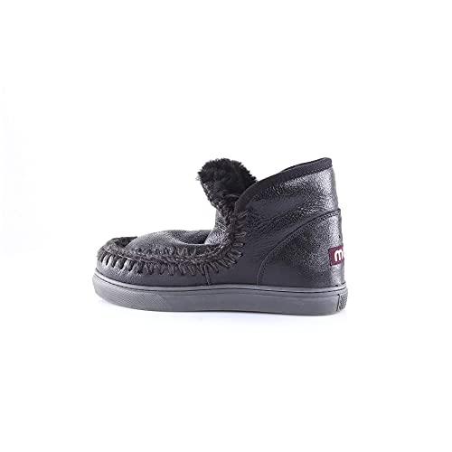 Zapatos de Mujer Zapatilla Mini Eskimo Negro Mou Otoño...