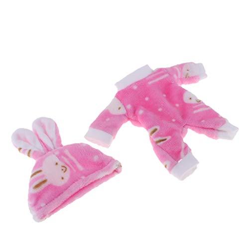 2er-Set Hase Puppen Overall Puppenkleidung Puppen Jumpsuit für 9-11 Zoll Babypuppen - Rosa-1, wie beschrieben