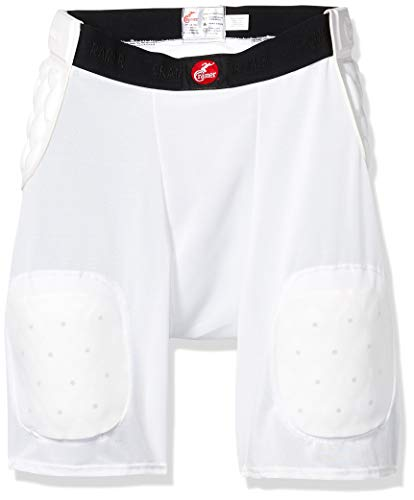 Cramer Classic 5-Pad Football Girdle, Youth Football Girdle with Hip, Tailbone, and Thigh Pads, Kids' Football Equipment, Youth Football Gear, Kids' Protective Gear for Football, White, Youth Medium