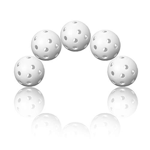 Funhoo 50pc Balles De Formation De Golf Balles Distance Creuse Airflow avec Trous pour Practice,...