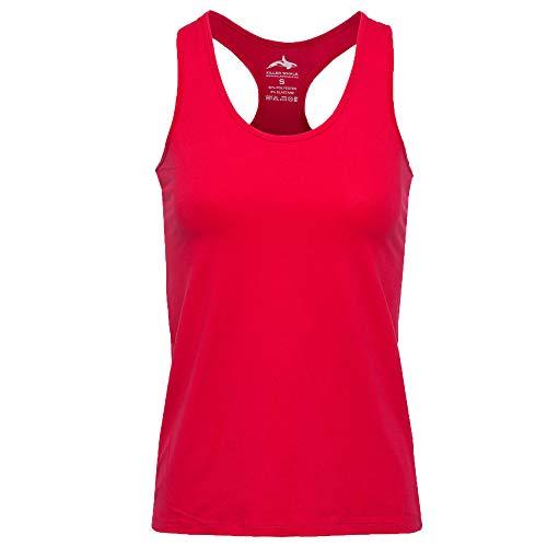 Killer Whale Camicie Senza Maniche da Palestra Sportiva per Donna (Rosso, M)