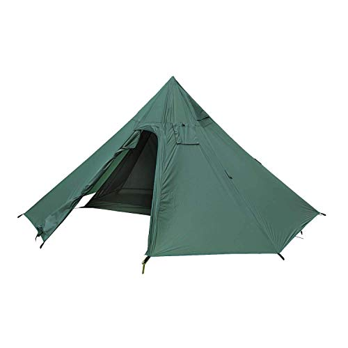 OneTigris Iron Wall Stove Tent with Inner Mesh, Black Orca Series