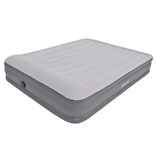Luxury Air Mattress with Built-In Pump,Flocking Top Camping Inflatable Double Bed with Pillow Height Elevated Air Bed