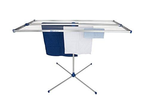 stewi Libelle XL Wäscheständer/Wäschetrockner, Aluminium Silber/Blau, 175 x 165 x 75 cm