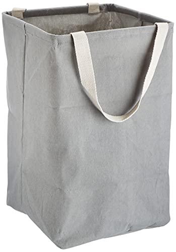 Amazon Basics - Contenitore portaoggetti in tessuto, alto, cubico, grigio antracite