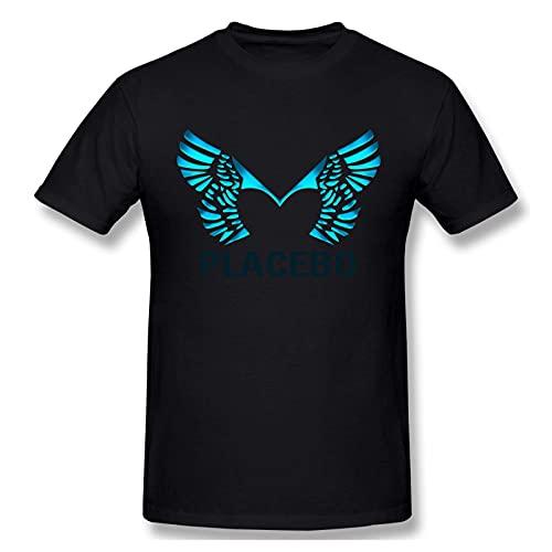 Placebo Band Men's Comfortable Short Sleeve Shirts Crew Neck Personality Fashion T-Shirt Black Camicie e T-Shirt(Small)