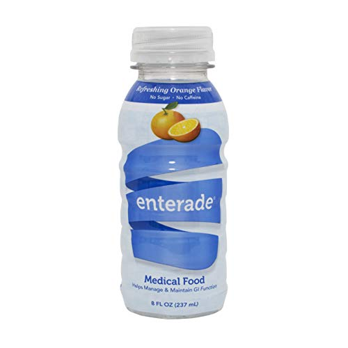 enterade AO Supportive Care and Hydration/Electrolyte Absorption Drink, Specially Formulated To Address Chronic GI Side Effects, 8oz., 12 Pack