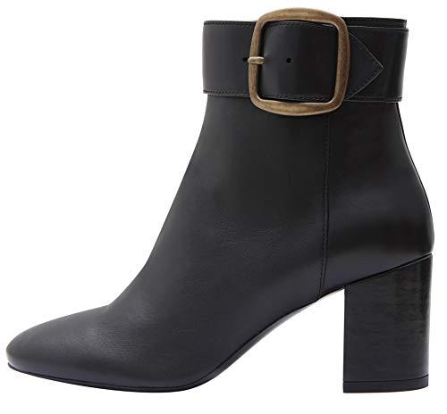 Poi Lei Damen-Schuhe Stiefeletten Jil Echtleder Glattleder Blockabsatz - Handgefertigt in Europa