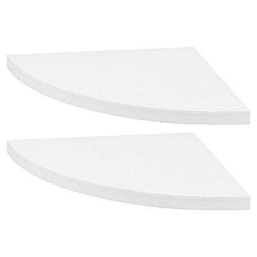 Hartleys - Eckregale - weiß - Set mit 2 Stück