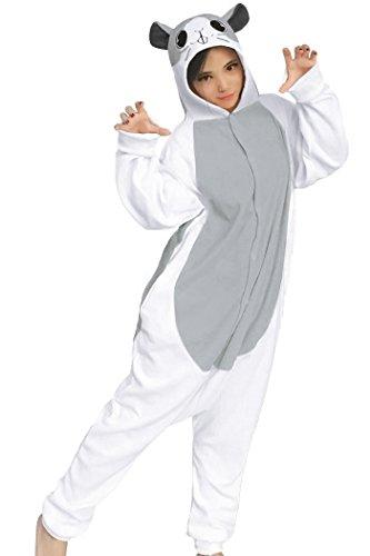 dressfan Tier Cosplay Kostüm Hamster Pyjamas Erwachsene Mädchen (XS, Grau)