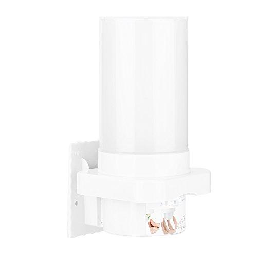Fdit Dispensador de Vasos montado en la Pared Dispensador de Agua de plástico Soporte para Vasos desechable, Contenedor de Vasos Ajustable de 40-50 Piezas con Tapa