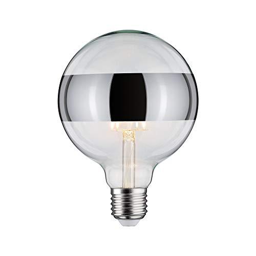 Paulmann 28681 LED Lampe Filament G125 6 Watt Leuchtmittel Ringspiegel Silber 2700 K Warmweiß dimmbar E27