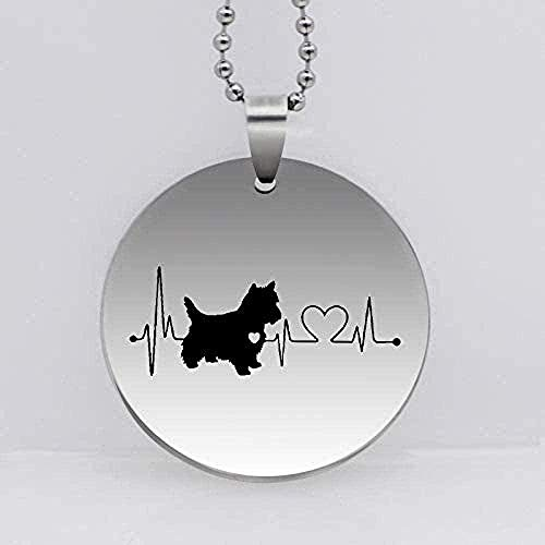 N-G Necklace Stainless Steel West Highland Heartbeat Dog Pendant Necklace Dog Jewelry Drop Shipping Gift