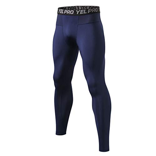 ITISME 2020 Pas Cher Homme Pantalons de Compression pour Hommes Collants de Sport Leggings Collants de Sport Legging de Course Vêtements de Sport Séchage Rapide Pantalons (XXL, Z3-Marine)