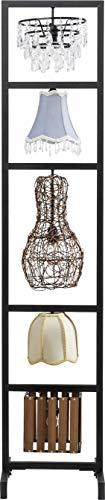Kare Design Stehleuchte Parecchi Art House 176 x 40 cm, edle, schmale Stehlampe für Innen, mit 5 verschiedenen Lampenschirmen, edler Raumteiler (HxBxT) 176 x 40 x 37 cm