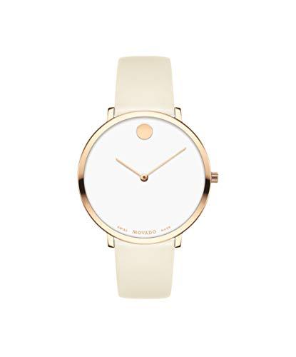 Movado Reloj Analógico para Mujer de Cuarzo con Correa en Cuero 0607389
