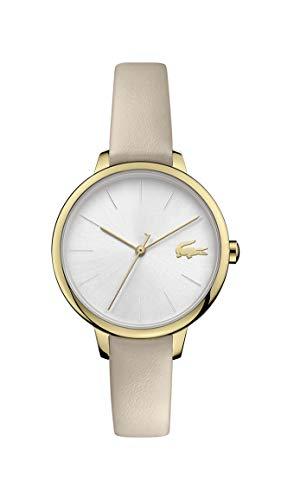 Lacoste Damen Analog Quarz Uhr mit Leder Armband 2001126