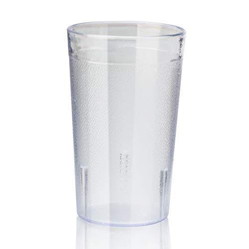 New Star Foodservice 46571 Tumbler Beverage Cup, Stackable Cups, Break-Resistant Commercial SAN Plastic, 5 oz, Clear, Set of 72