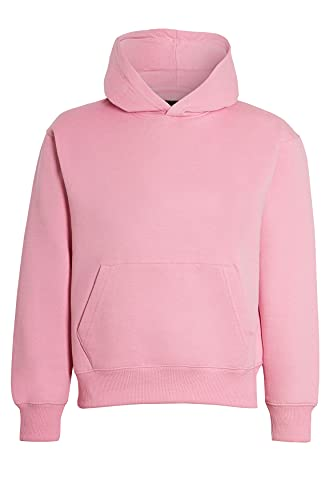 Unisex Boys & Girls Plain Pullover Hoodies Without Zip Boys Sweatshirt Hooded Top Jumper School Wear Hoodies UK Size 5-13 Years (Baby Pink, 5_years)