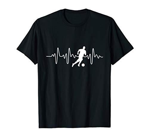 Herzschlag Fußball T-Shirt - Geschenkidee für Fußballer