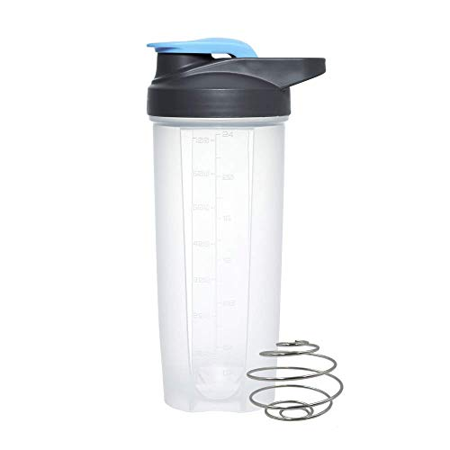SLM-max Portable water cup,Plastic Protein Shaker with Stainless Steel Mixing Ball Whey Gym Cup Vortex Shake Bottle Mixer
