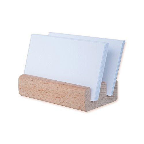 Urban Hideout Tarjetero de madera, Soporte para teléfono, Soporte Z1  1 año de garantía  50 tarjetas de capacidad, incluye cinta adhesiva doble