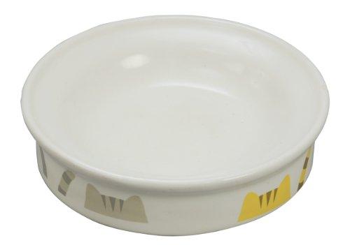 ペティオ (Petio) 猫専用陶器食器 ウェットフード向き 猫としっぽ ウエットフード向き