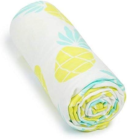 Muslin Pineapples Fruit Luxury Baby Muslin Square Swaddle Blanket Cloth Organic