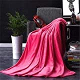 DiamondHome Super Soft Light Weight Coral Fleece Warm Throw Blanket for Couch/Sofa/Bed/Chair in Living Room & Bed Room , 50' x 60' (Hot Pink)