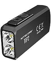 NITECORE TIP2 充電式 ミニ LED 懐中電灯 キーライト 720ルーメン ブラック コンパクト / 5モード切替 平型キーライト